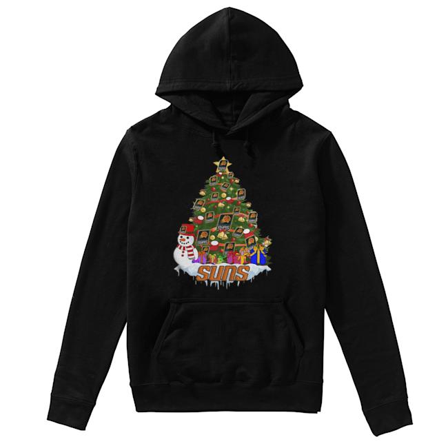 NBA Phoenix Suns Basketball Christmas Tree  Unisex Hoodie
