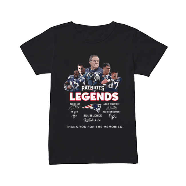 New England Patriots legends thank you for the memories signatures  Classic Women's T-shirt
