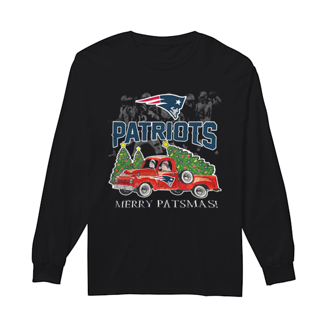 New England Patriots Merry Patsmas  Long Sleeved T-shirt