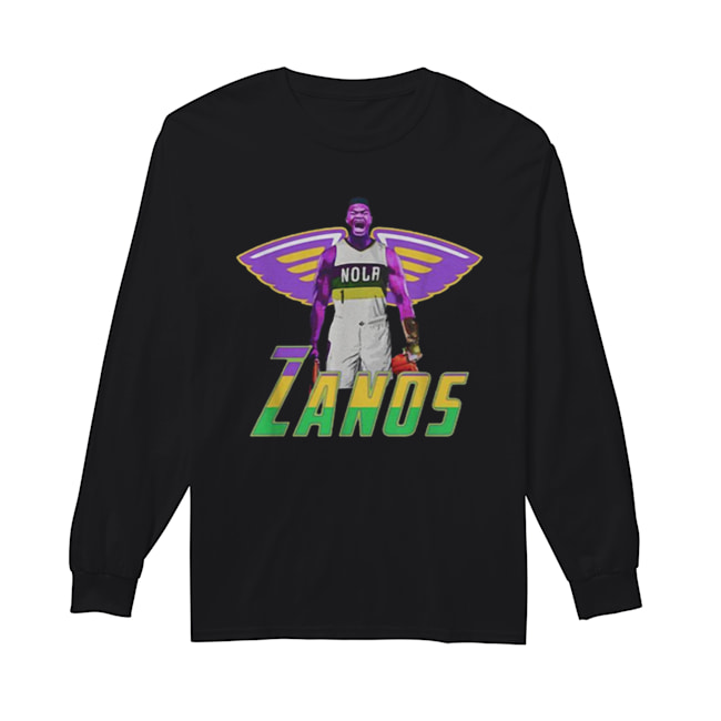 Nice Zanos Nola New Orleans Pelicans  Long Sleeved T-shirt