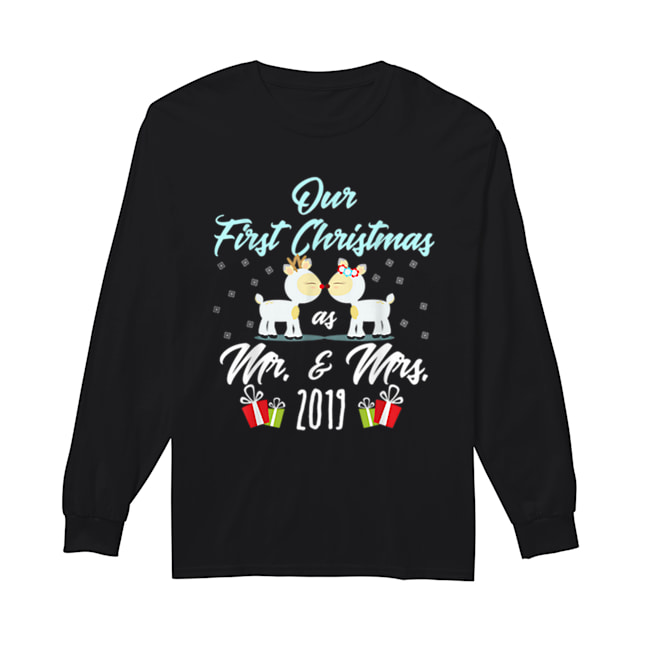 First Christmas as Mr /& Mrs Any Name T-SHIRT Personalised Xmas Gift Newlyweds