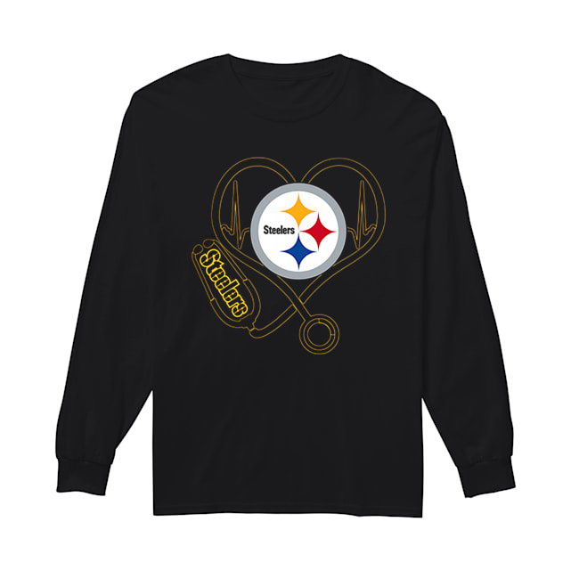 Pittsburgh Steelers Stethoscope  Long Sleeved T-shirt