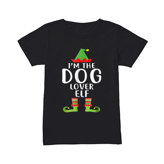 Pretty I'm The Dog Lover Elf Matching Family Group Christmas  Classic Women's T-shirt