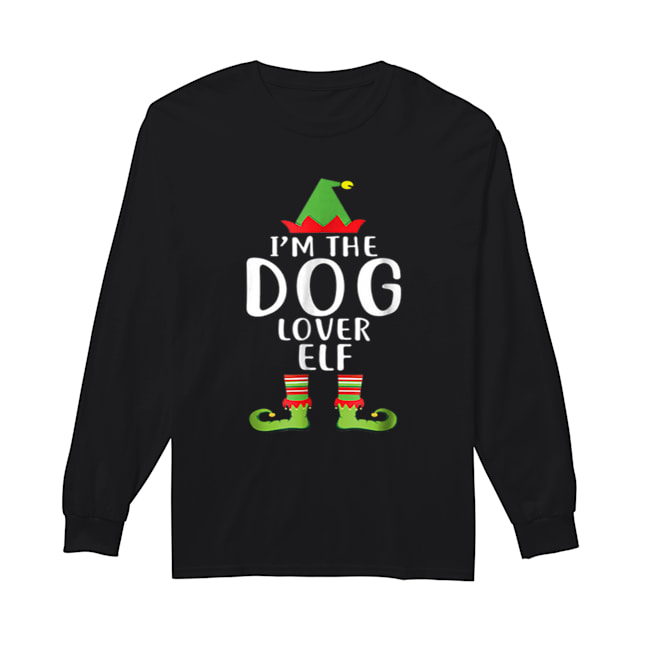 Pretty I'm The Dog Lover Elf Matching Family Group Christmas  Long Sleeved T-shirt