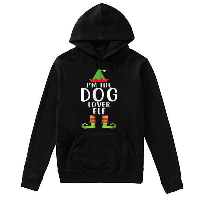 Pretty I'm The Dog Lover Elf Matching Family Group Christmas  Unisex Hoodie