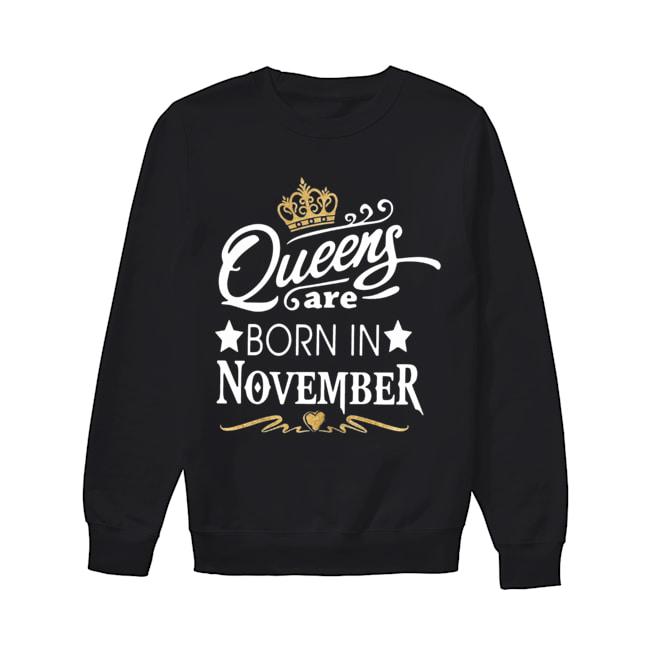 Queen Are Born In November Crown  Unisex Sweatshirt
