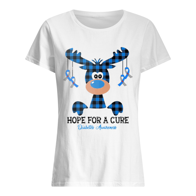 Reindeer hope for a cure diabetes awareness  Classic Women's T-shirt