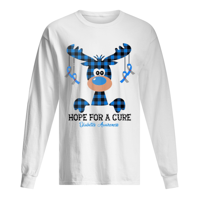 Reindeer hope for a cure diabetes awareness  Long Sleeved T-shirt