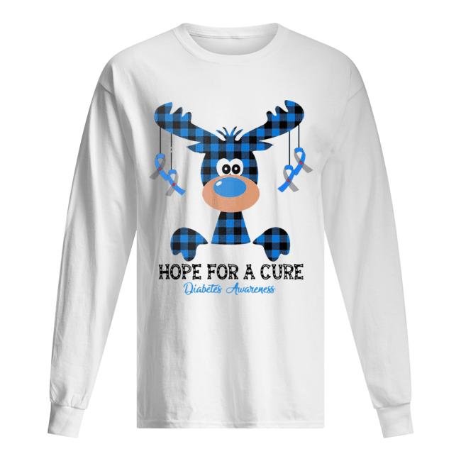 Reindeer hope for a cure diabetes awareness  Long Sleeved T-shirt