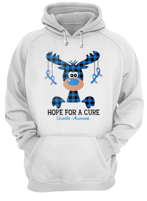 Reindeer hope for a cure diabetes awareness  Unisex Hoodie