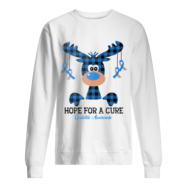 Reindeer hope for a cure diabetes awareness  Unisex Sweatshirt