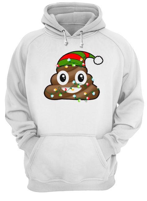 Reindeer Poop Emoji Cute Merry Christmas Red  Unisex Hoodie