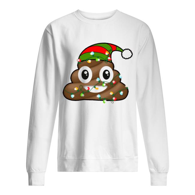Reindeer Poop Emoji Cute Merry Christmas Red  Unisex Sweatshirt