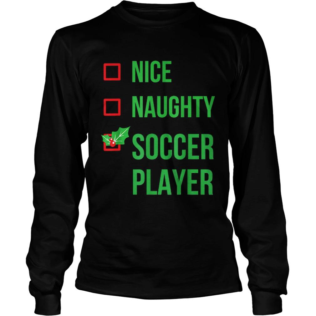 Soccer Player Funny Pajama Christmas Gift  LongSleeve