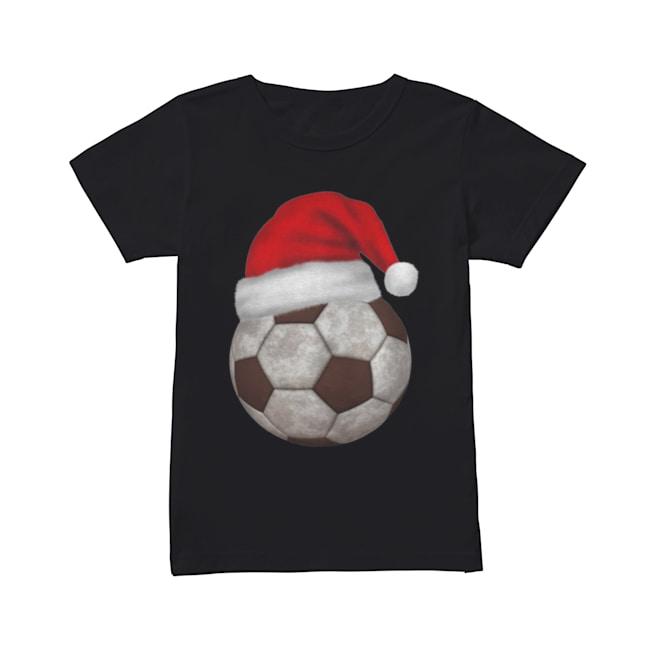 Soccer Santa Funny Merry Xmas  Classic Women's T-shirt