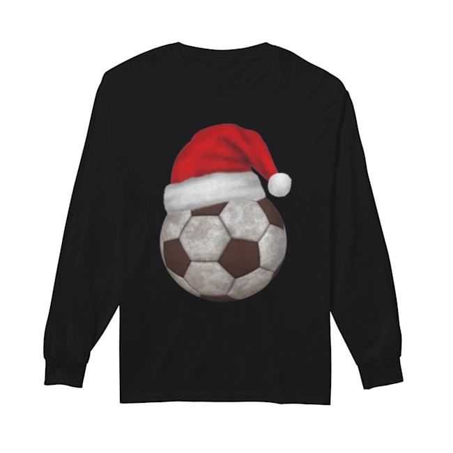 Soccer Santa Funny Merry Xmas  Long Sleeved T-shirt