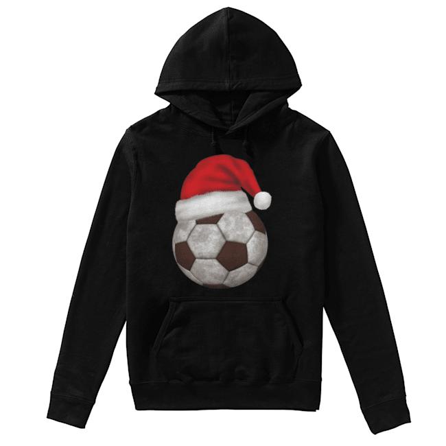 Soccer Santa Funny Merry Xmas  Unisex Hoodie