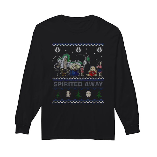 Spirited Away ugly Christmas  Long Sleeved T-shirt