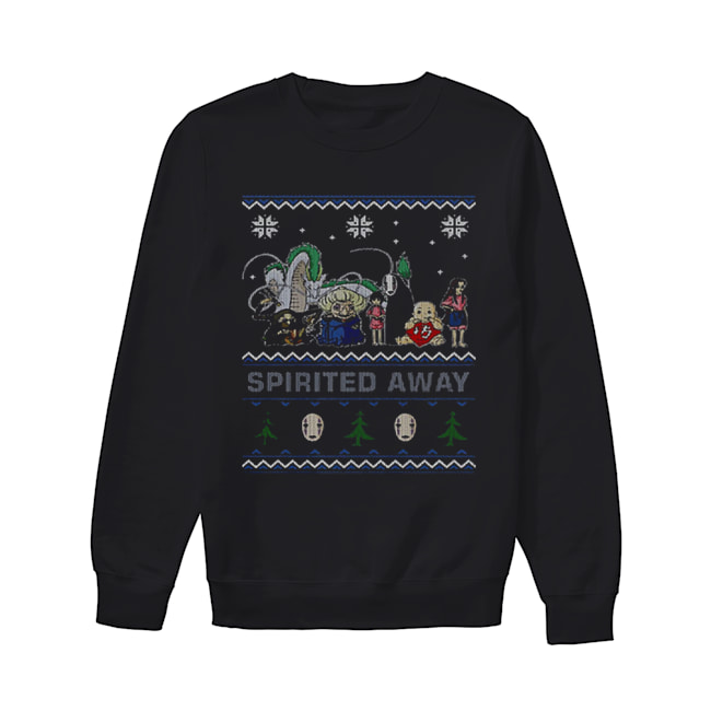 Spirited Away ugly Christmas  Unisex Sweatshirt