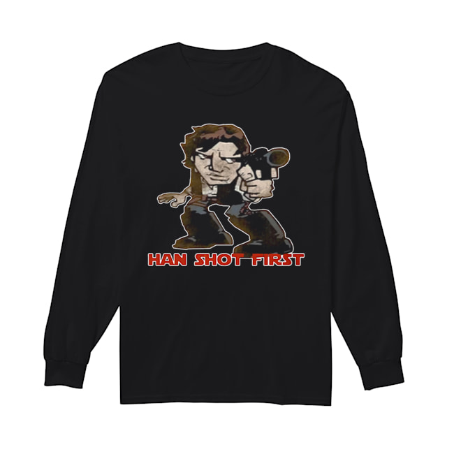 Star Wars Han Shot First  Long Sleeved T-shirt