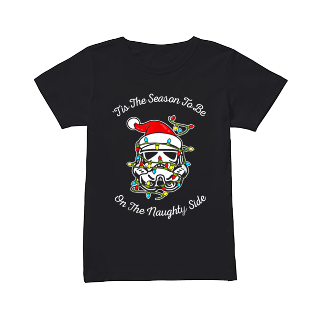 Star Wars Trooper Tangled Naughty Side Christmas  Classic Women's T-shirt