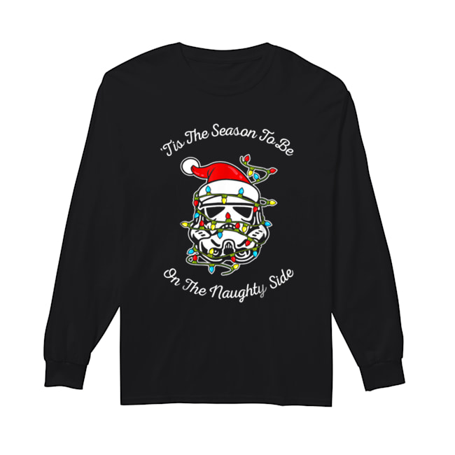 Star Wars Trooper Tangled Naughty Side Christmas  Long Sleeved T-shirt