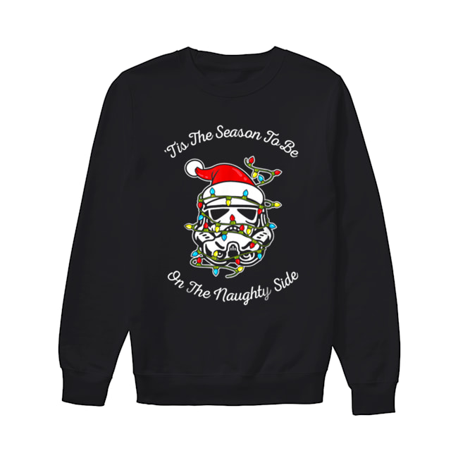 Star Wars Trooper Tangled Naughty Side Christmas  Unisex Sweatshirt