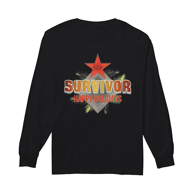 Survivor Happy Holidays Christmas  Long Sleeved T-shirt