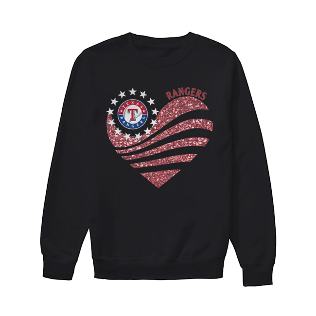Texas Rangers Diamond Heart  Unisex Sweatshirt