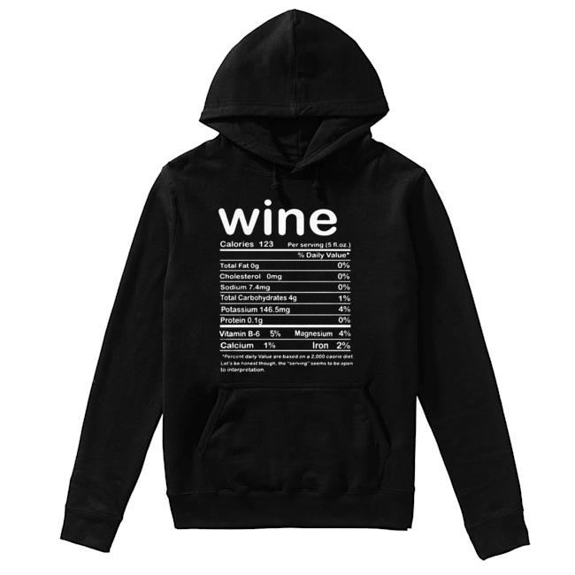 Thanksgiving Wine Nutritional Facts Funny Costume  Unisex Hoodie