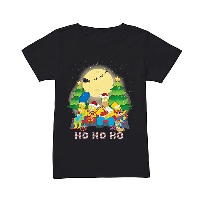 The Simpsons Family ho ho ho Christmas  Classic Women's T-shirt