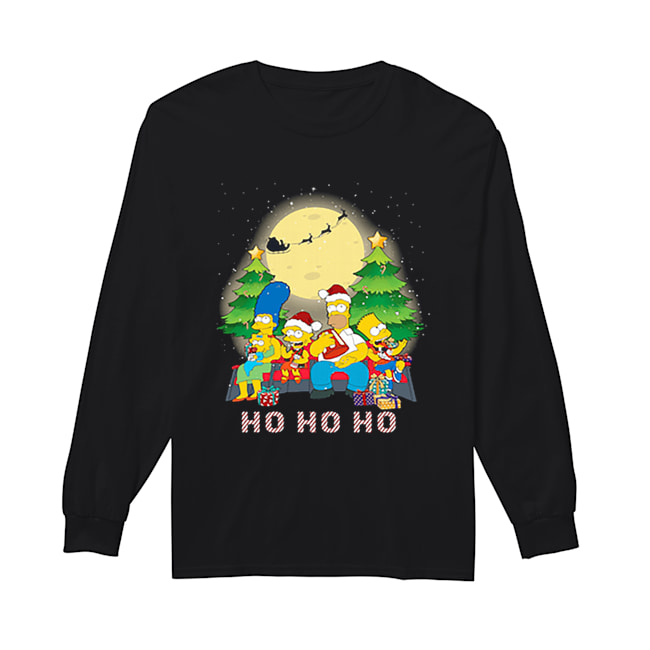 The Simpsons Family ho ho ho Christmas  Long Sleeved T-shirt