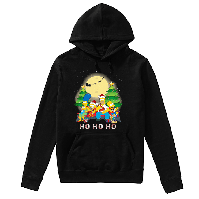 The Simpsons Family ho ho ho Christmas  Unisex Hoodie