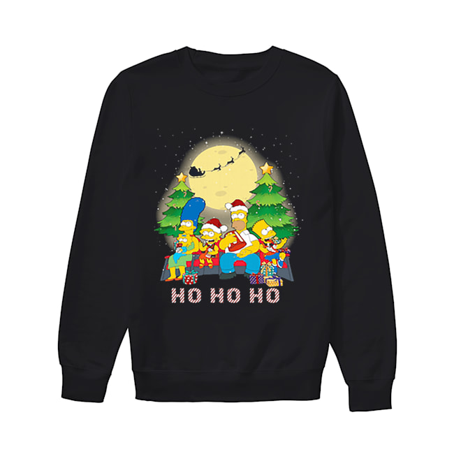 The Simpsons Family ho ho ho Christmas  Unisex Sweatshirt