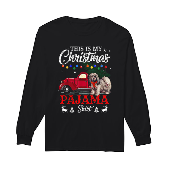 This Is My Christmas Pajama Lhasa Apso  Long Sleeved T-shirt