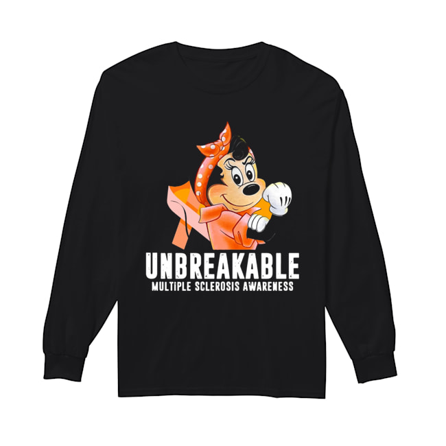 Unbreakable Multiple Sclerosis Awareness Minnie Mouse  Long Sleeved T-shirt