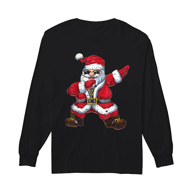 Vintage Santa Claus Dab Christmas Gifts Xmas Dabbing Santa  Long Sleeved T-shirt