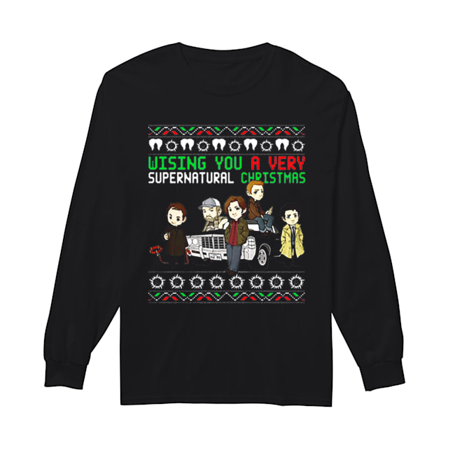Wishing You A Very Supernatural Christmas  Long Sleeved T-shirt