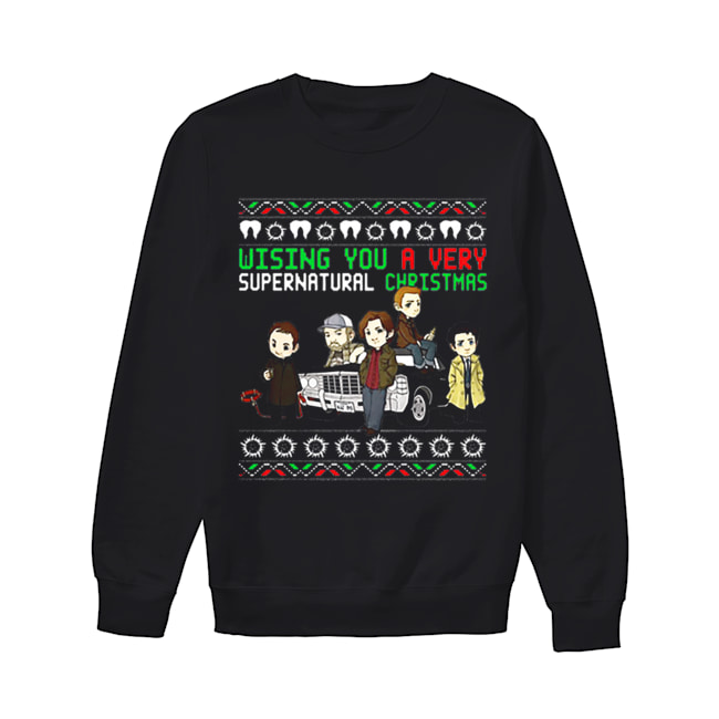 Wishing You A Very Supernatural Christmas  Unisex Sweatshirt