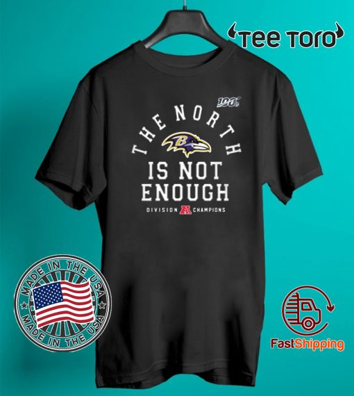 Mens Baltimore Ravens The North Is Not Enough T-Shirt