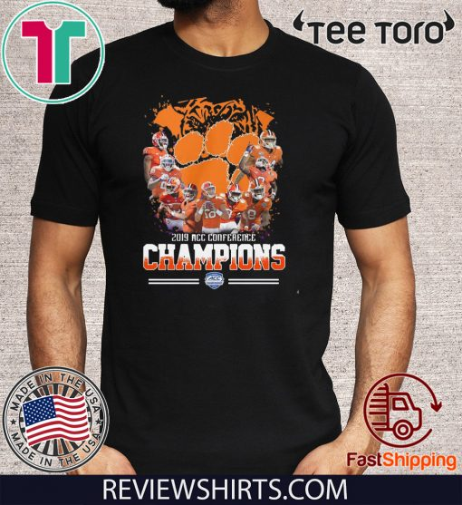 Clemson Tigers Players 2019 Acc conference champions Offcial T-Shirt