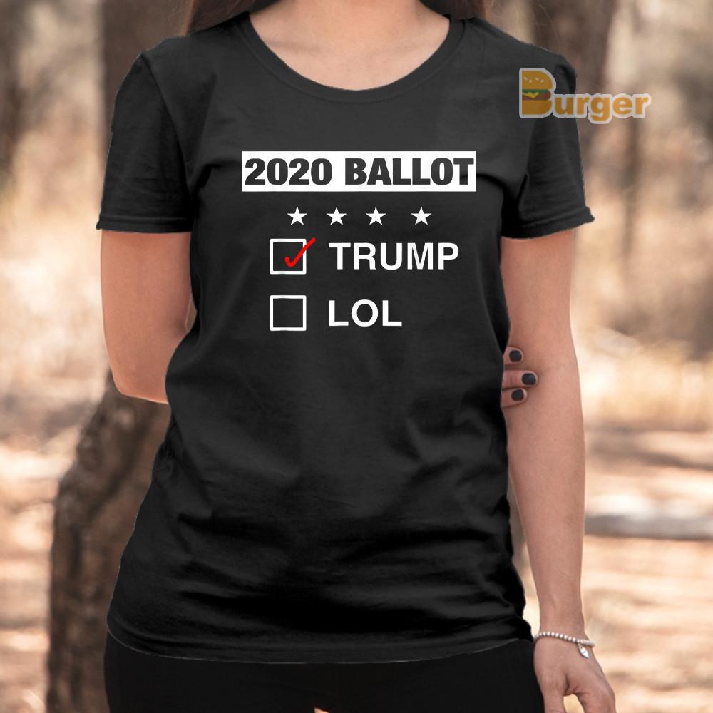 2020 Campaign Voter Ballot Funny Pro Trump Tee Shirt Republican