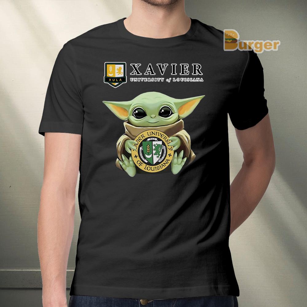 Baby Yoda Xavier University Of Louisiana Tee Shirt