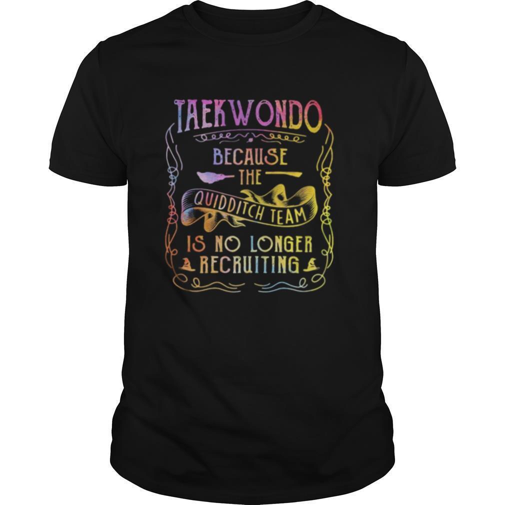 Taekwondo because the quidditch team is no longer recruiting shirt