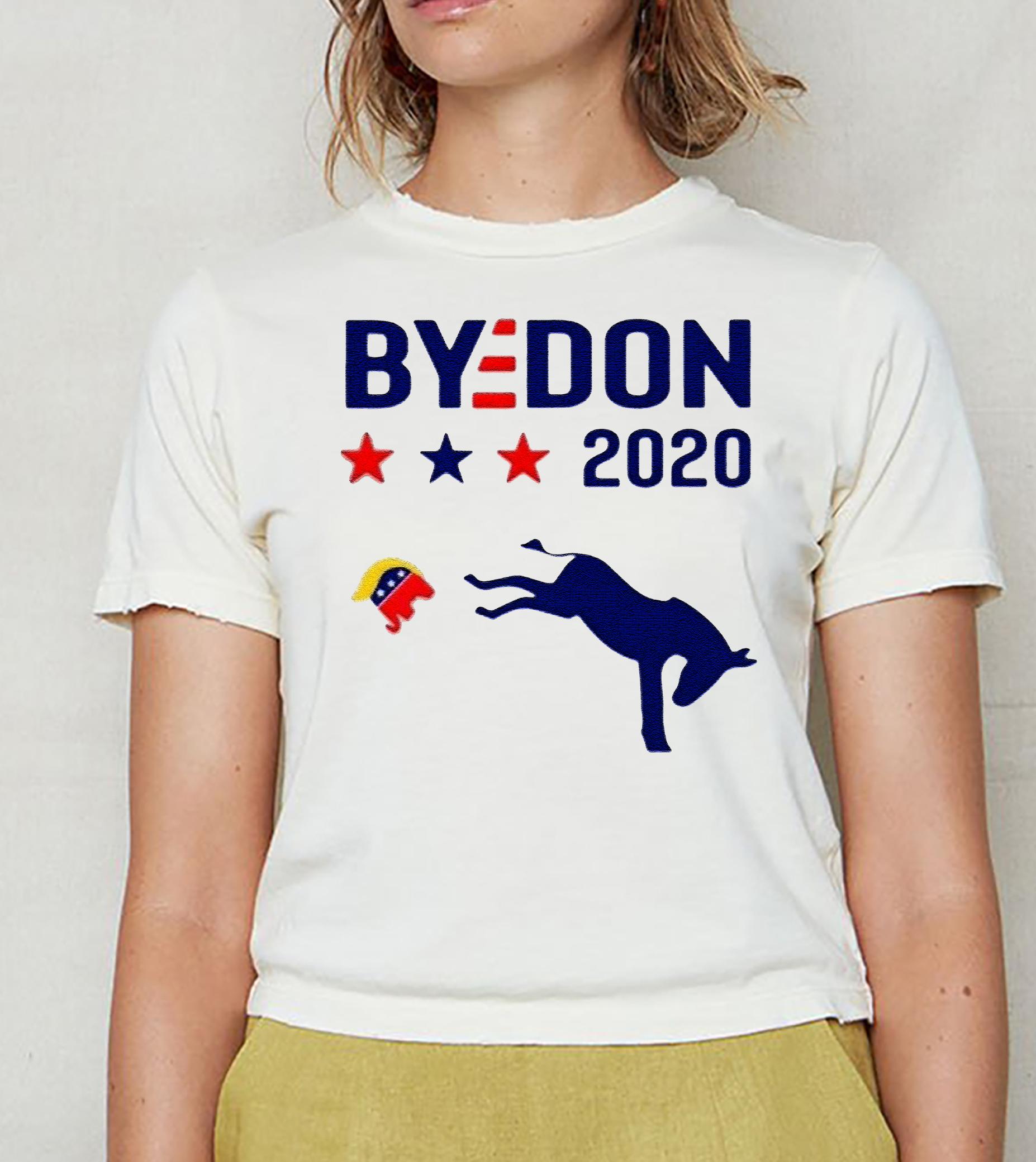 Joe Biden donkey kick elephant Trump bydon 2020 tshirts