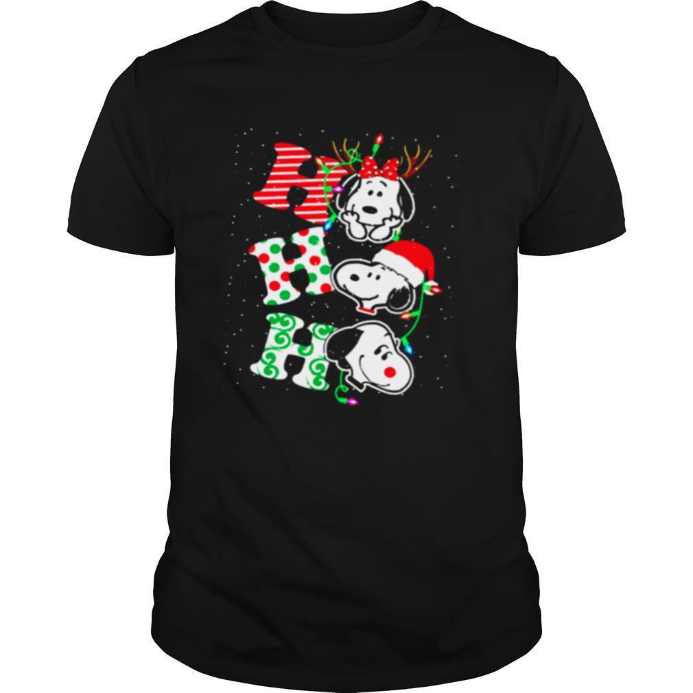 Ho Ho Ho Snoopy Christmas shirt
