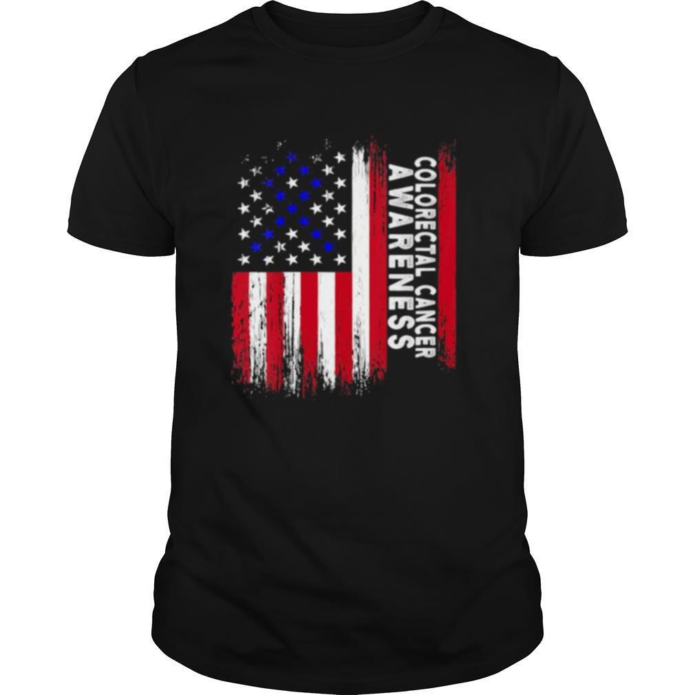 Colorectal Cancer Awareness American Flag shirt