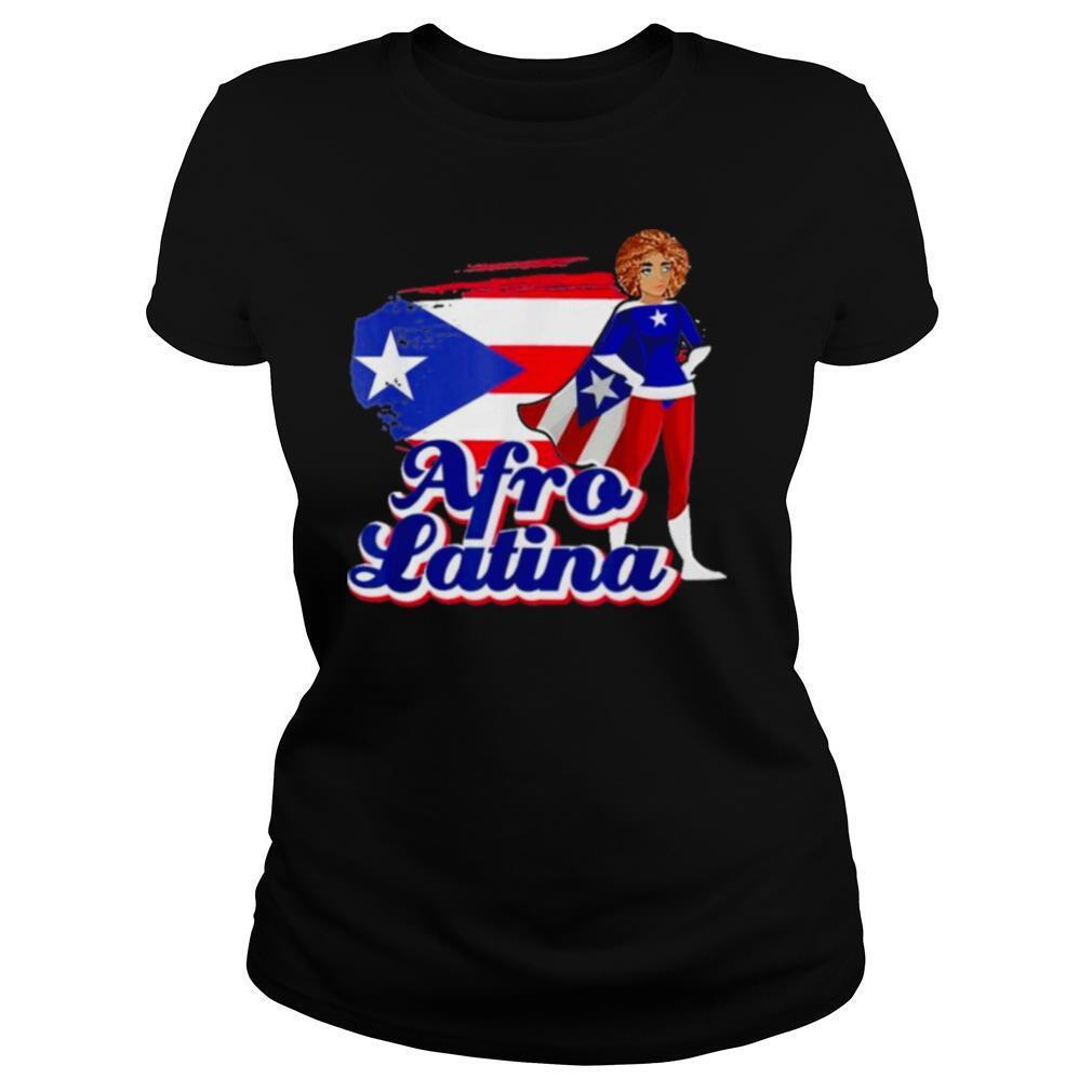 Afro Latina Puerto Rican Flag shirt