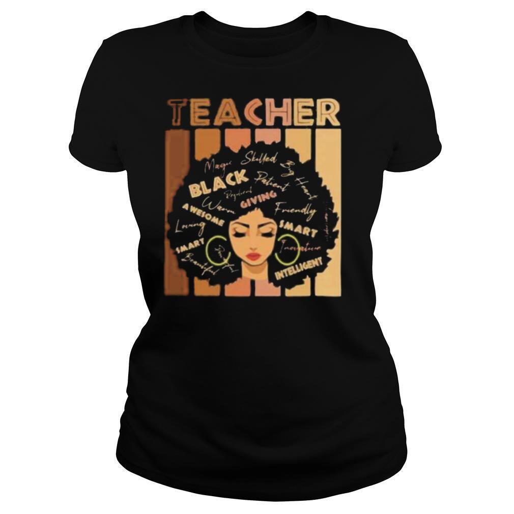 Black smart teacher afro love melanin african American women shirt