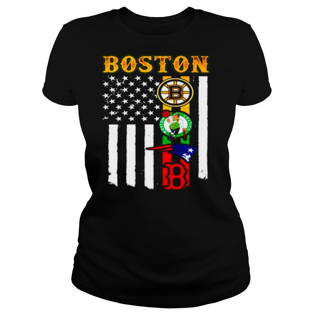 Boston Sports Teams American flag shirt